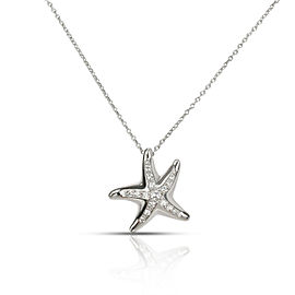 Tiffany & Co. Mini-Mini Starfish Diamond Pendant in Platinum 0.13 CTW