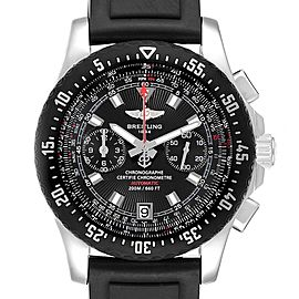 Breitling Skyracer Raven Black Dial Ruber Strap Steel Mens Watch A27364