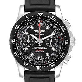 Breitling Skyracer Raven Black Dial Ruber Strap Steel Mens Watch A27364