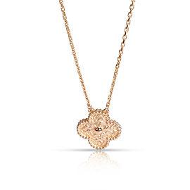 Van Cleef & Arpels Vintage Alhambra Necklace in 18K Rose Gold