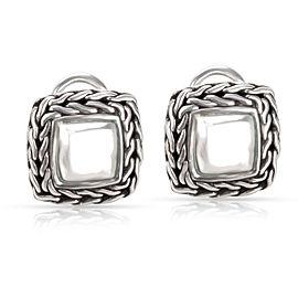 John Hardy Square Palu Earrings in Sterling Silver