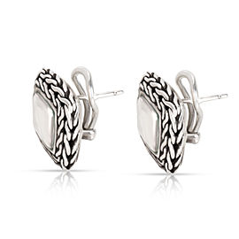 John Hardy Square Palu Earrings in Sterling Silver