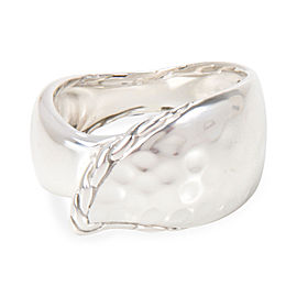 John Hardy Hammered Wave Ring in Sterling Silver