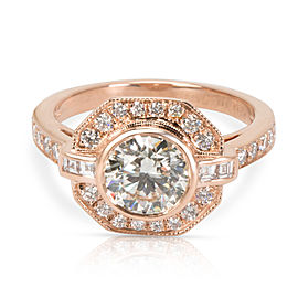 AGS Certified James Allen Diamond Engagement Ring in 14K Rose Gold