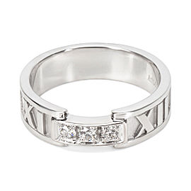 Tiffany & Co. Diamond Atlas Ring in 18KT White Gold 0.15CTW