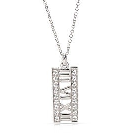 Tiffany & Co. Open Atlas Diamond Pendant in 18K White Gold (0.20 CTW)