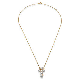 Mikimoto Pearl & Diamond Bubble Necklace in 18K Yellow Gold