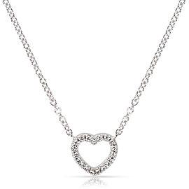 Tiffany & Co. Metro Mini Diamond Heart Necklace in 18K White gold 0.15 ctw