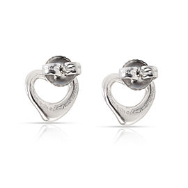 Tiffany & Co. Elsa Peretti OPen Heart Earring in Sterling Silver