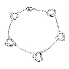 Tiffany & Co. Elsa Peretti Open Heart Bracelet in Sterling Silver