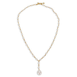 Tiffany & Co. Pearl Necklace in 18k Yellow Gold