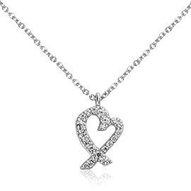 Tiffany & Co. Paloma Picasso Diamond Loving Heart Pendant in 18K White Gold