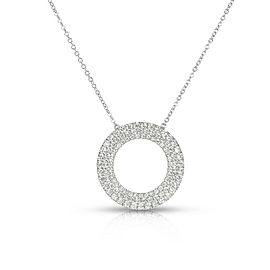 Tiffany & Co. Three Row Circle Necklace in 18K White Gold 0.70 CTW
