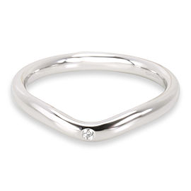Tiffany & Co. Elsa Peretti Diamond Band in Platinum 0.02 CTW