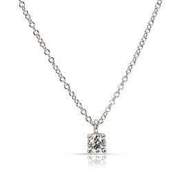 Tiffany & Co. Diamond Solitaire Pendant in Platinum (0.18 CTW)
