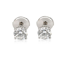 Cartier Diamond Stud Earring in Platinum F VVS2 1.4 CTW