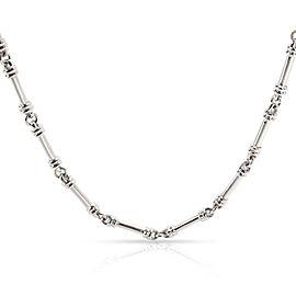 Scott K Bar Diamond Necklace in Platinum 0.06 CTW