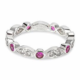 Tiffany Jazz Diamond & Sapphire Ring in Platinum