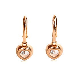 Chopard Diamond Happy Heart Earrings in 18K Rose Gold