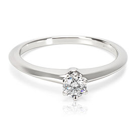 Tiffany & Co. Diamond Engagement Ring in Platinum GIA Certified 0.23 G VVS1