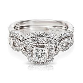 Neil Lane Diamond Engagement Bridal Set 14K White Gold 1.30 ctw