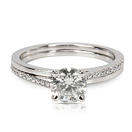 DeBeers 0.72 ct G/SI2 Round Brilliant Engagement Ring in Platinum (0.83 CTW)