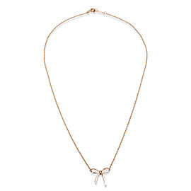 Tiffany & Co. Bow Pendant Necklace in 18K Rose Gold