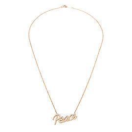 Tiffany & Co. Paloma Picasso Graffiti Peace Pendant in 18K Rose Gold 0.21 ctw