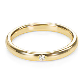 Tiffany & Co. Elsa Peretti One Diamond Band in 18K Yellow Gold (0.02 CTW)