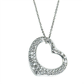 Tiffany & Co Elsa Peretti Diamond Heart Necklace in Platinum (2.00 CTW)