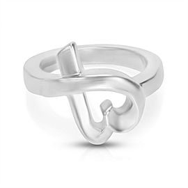 Tiffany & Co Paloma Picasso Loving Heart Ring in Sterling Silver