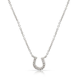 Tiffany & Co. Diamond Horseshoe Necklace in 18K White Gold (0.06 CTW)