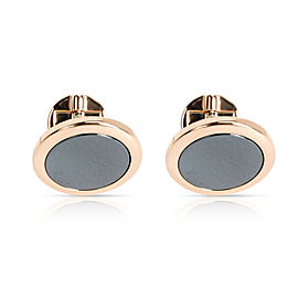 Piaget Altiplano Hematite Cufflinks in 18K Rose Gold
