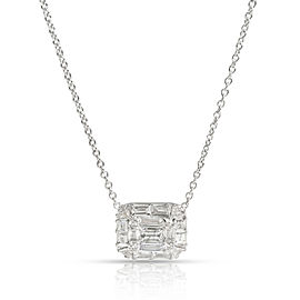 Nicole Rose Round, Baguette & Triangle Diamond Necklace in 18KT Gold 0.68 CTW
