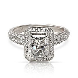 Kelege Radiant Diamond Engagement Ring in Platinum GIA D VS2 2.55 CTW