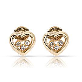 Chopard Happy Hearts Diamond Earring in 18K Yellow Gold 0.18 CTW