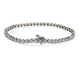 IGI Certified Diamond Tennis Bracelet in 14K White Gold H-I I1-I2 3.5 CTW