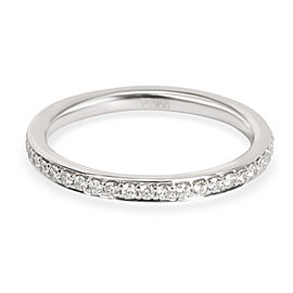 Stackable Round Cut Diamond Eternity Band in Platinum 0.36 CTW