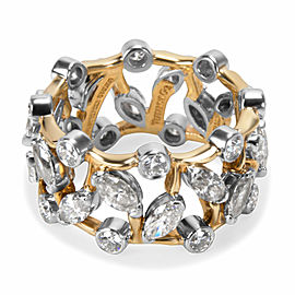 Tiffany & Co. Schlumberger Vigne Ring in Platinum & 18K Yellow Gold