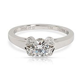 Cartier Ballerine Diamond Engagement Ring in Platinum GIA D VVS1 0.49 CTW