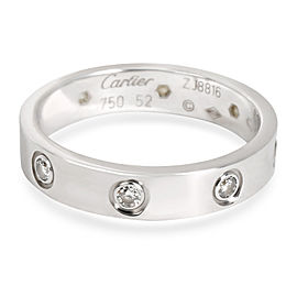 Cartier Love Diamond Band in 18K White Gold 0.16 CTW Cartier Size 52