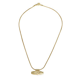 Lisa Jenks Diamond Bar Necklace in18K Yellow Gold 0.05 CTW