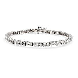Certified Semi-Bezel Diamond Tennis Bracelet in 14K Gold G-H VS2-SI1 2.50 CTW