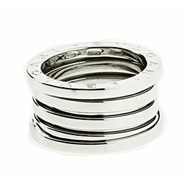 BVLGARI women's B.ZERO1 4 band ring in 18K white gold - size US 7.75 - Italy 56