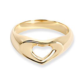 Tiffany & Co. Open Heart Signet Ring in 18K Yellow Gold
