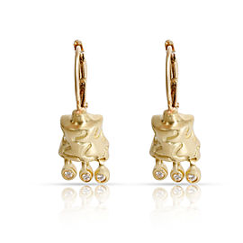 Lisa Jenks Diamond Earrings 14K, 18K Yellow Gold 0.06 CTW