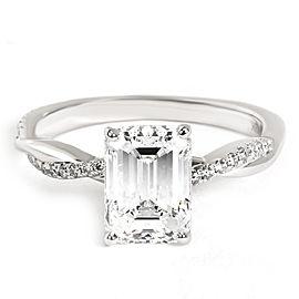 Brilliant Earth Petite Vine Emerald Engagement Ring in 18KT Gold GIA 1.70 D VVS2