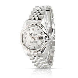 Rolex Datejust 179174 Women's Watch in 18kt Stainless Steel/White Gold