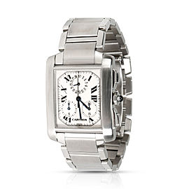 Cartier Tank Francaise Chronoflex W51001Q3 Men's Watch in Stainless Steel