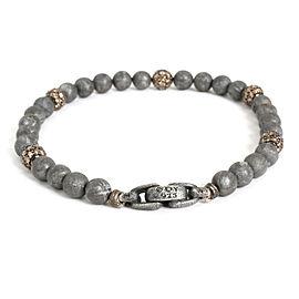 David Yurman Champagne Diamond Bead Bracelet in Sterling Silver 3.15 CTW